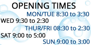 opening times of trissy laundry zone